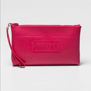 Hunter for Target large pink pouch/wristlet